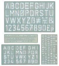 Set di 4 lettere e numeri Stencil Stencil 4 Taglie Craft SCUOLA progetto NUOVO