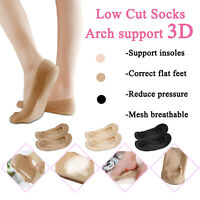 Women 3D Cushion Low Cut Ankle No Show Invisible Liner Soft Arch Support Socks