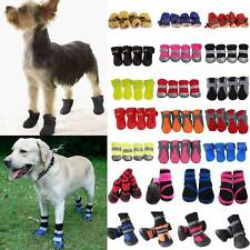 4pcs Winter Pet Puppy Dog Shoes Anti-slip Rain Snow Waterproof Boots Sock S - XL