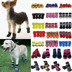 Casual Pet Puppy Dog Shoes Anti-slip Rain Snow Waterproof Boots Bootie Socks