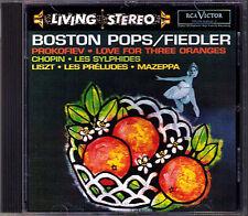 Arthur FIEDLER: CHOPIN Sylphides LISZT Preludes PROKOFIEV RCA Living Stereo CD
