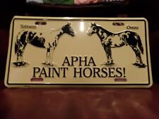 Apha Paint Horse license plate tobiano and overo on aluminum
