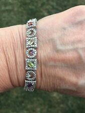 Gorgeous Sterling Silver And Multi Gemstone Bracelet