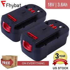 3600mAh 2X HPB18 for Black and Decker 18v Battery HPB18-OPE 244760-00 FSB18 A18
