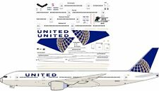United Boeing 777-200 airliner decals for Minicraft 1/144 kits
