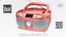 CD Player Stereo UKW Radio Tragbar Boombox Dual P49-1 LED Display Rot