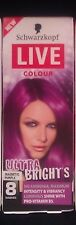 4 X Schwarzkopf 125ml Live Colour Temporary Ultra Brights Magnetic Purple