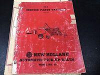 Original New Holland 77 Automatic Pick-Up Baler Service Parts Catalog 72A 4-1956