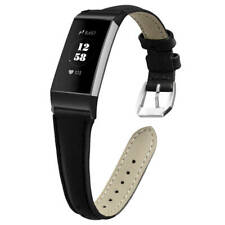 For Fitbit Charge 3 Replacement Leather Strap Wristband Watch Band Bracelet CA