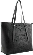 SHOPPER nero DONNA WOMEN'S FASHION Handbag Borsa Di Marca Celebrità Alla Moda