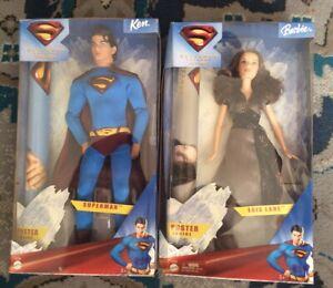 MATTEL BARBIE SUPERMAN RETURNS BARBIE AS LOIS LANE & KEN AS SUPERMAN SET MIB