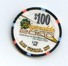 $100.00 Chip. Fitzgerald's Casino. Millennium Chip. Las Vegas , Nevada.