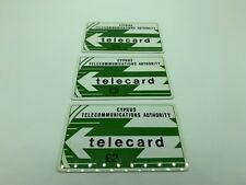 X3 CYPRUS TELECOMMUNICATIONS AUTHORITY PHONECARDS TELECARD 1ST DEF