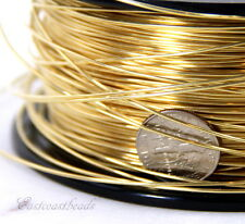 Brass Wire, 20 Gauge, Dead Soft, Round Brass Jewelry Wire, 20 Feet, 012