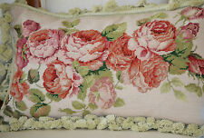 "12""x 20"" French Country Style Handmade Petite Point Needlepoint Pillow WM-78"