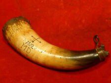 """Rare War Of """" Md 1812 """" / """" Maryland Cross """" Soldier'S Carved Powder Horn -Exc"""