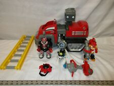 Fisher price rescue heroes Billy blazes Fire truck wendy waters dog dalmatian