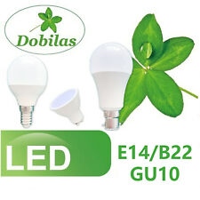 LED Bulbs 7W 12W SES BC ES GLS E14 E27 B22 GU10 Golf Ball Globe Candle Lights
