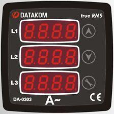 DATAKOM DA-0303 Digital Ammeter Panel, 3 Phase, 72x72mm _