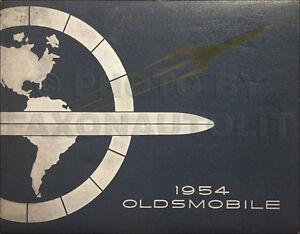 1954 Oldsmobile Color Upholstery Dealer Album 88 98 Super Showroom Feature Fact