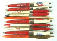 Esso Amoco Pure Firebird Pens Oil Gas Advertising  Lot of 10 Vintage