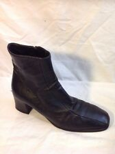 Russell&Bromley Black Ankle Leather Boots Size 40.5