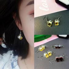 Gift Drop Dangle Party Fashion Hook Ear Stud Jewelry Wine Bottle Earrings Resin