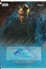 2018 Star Wars Finest Black Parallel Auto of Darth Maul signed by Ray Park 7/10