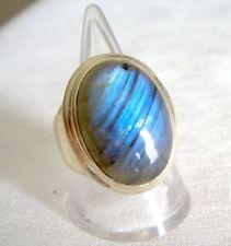 Ring mit Labradorit, 925er Silber, Gr. 18,4