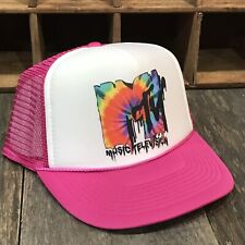 MTV Tie Dye Trucker Hat Vintage Music Television 80 s 90 s Snapback Cap!  Pink 78e311259bf9