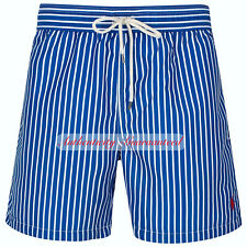 2a43886b8 Ralph Lauren Mens Blue Striped Trunks Swimming Beach Wear Short Size Large