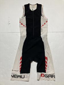 Garneau Women's Elite Lazer Tek Suit 2 Cycling Bib Large White Black Biking