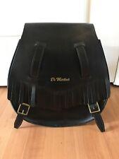 Dr Martens Doc Black Leather Backpack Fringe Buckle Bag EUC