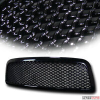 For 09-12 Dodge Ram 1500 Black Mesh Wire Front Hood Grill Grille Replacement 1Pc