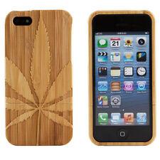 Genuine Bamboo Wood Marijuana Pot Leaf Hard Case Cover For Apple iPhone 6 4.7
