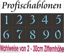 Wandschablone, Ziffernschablonen, Ziffern, Zahlen -arabische Zahlen 0-9 = 2-30cm