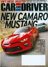 2015 Car & Driver Magazine: New Camaro vs. Mustang/Chevy & Ford V-8/VW Diesel
