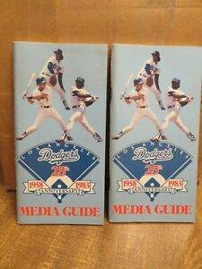 PAIR of LOS ANGELES DODGERS 1983 MEDIA GUIDES