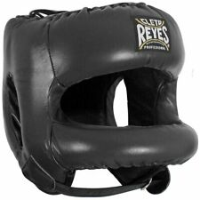 FREE Cleto Reyes Black Head Guard with Nylon Round Face Bar Facesaver black