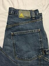 Vtg SilverTab Levis Carpenter Jeans 32x26 Distressed Blue Denim Hammer Loop