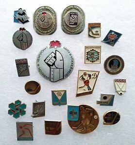 Hockey 21 pcs Mix Soviet Pin Badge USSR ☭