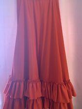 Red Belly dance/Flamenco skirt- Beautiful movement!