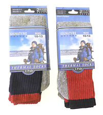 4 Pair Men's 80% Cotton Blend Warm Thermal Boot Length Socks Ultimate Warmth