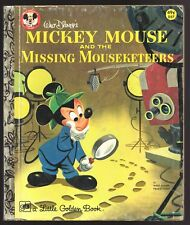 Vintage Children's Little Golden Book MICKEY MOUSE and the Missing Mouseketeers