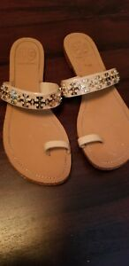 Tory Burch Nude and Gold sandals
