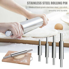 Stainless Steel Rolling Pin Non-stick Pastry Dough Roller Kitchen Accessories;