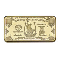 WR American $1 Million Dollar 1 OZ Commemorative 24k Gold Bar Big Value In Case