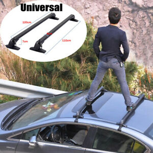 2PCS SUV Car Roof Rail Luggage Rack Baggage Carrier Cross Aluminum Anti-theft