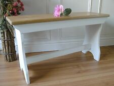 vintage style pine bench shabby chic wooden bench 2 seater