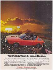 Original 1974 Renault 17 Gordini Coupe Convertible Vintage Print Ad